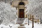 Mar.12, 2014; Bond Hall after snow storm. Photo by Barbara Johnston/University of Notre Dame