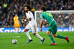 Marcelo Vieira of Real Madrid and Mikel Oyarzabal of Real Sociedad during La Liga match between Real Madrid and Real Sociedad at Santiago Bernabeu Stadium in Madrid, Spain. February 06, 2020. (ALTERPHOTOS/A. Perez Meca)