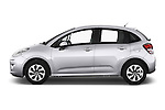 Car Driver side profile view of a 2014 Citroen C3 Seduction 5 Door Hatchback 2WD Side View