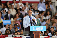 CORAL SPRINGS, FL - SEPTEMBER 30: United States Congressman Alcee Hastings speaks before the arrival of Democratic presidential candidate Hillary Clinton during a campaign rally at the Sunrise Theatre on September 30, 2016 in Coral Springs, Florid<br />