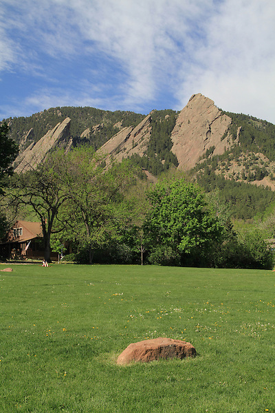 Rock platform in front of the Flatirons rock formation, Boulder, Colorado. .  John leads private photo tours in Boulder and throughout Colorado. Year-round Colorado photo tours.