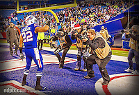 14 December 2014: Buffalo Bills running back Fred Jackson poses for photographers after a game against the Green Bay Packers at Ralph Wilson Stadium in Orchard Park, NY. The Bills defeated the Packers 21-13, snapping the Packers' 5-game winning streak and keeping the Bills' 2014 playoff hopes alive. Ed Wolfstein Photo. Original shot Nikon D4 RAW (NEF)