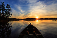 """""""Sunrise Tranquility""""<br /> <br /> Lasting memories are created when immersed in the beauty and tranquility of an early morning wilderness paddle. ~ Day 99 of Inspired by Wilderness: A Four Season Solo Canoe Journey."""