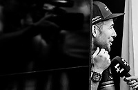 a cheerful Mark Cavendish  (GBR/Dimension Data) at the teambus before the start<br /> <br /> 104th Tour de France 2017<br /> Stage 4 - Mondorf-les-Bains › Vittel (203km)