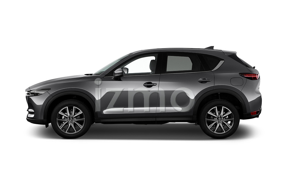 Car driver side profile view of a 2017 Mazda CX-5 Grand Touring 5 Door SUV