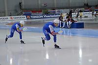 SPEEDSKATING: 13-02-2020, Utah Olympic Oval, ISU World Single Distances Speed Skating Championship, Team Sprint Men, Team NOR, ©Martin de Jong