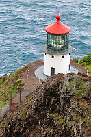 Makapuʻu Point Lighthouse, the eastern most point of Oahu, Hawaii, USA, Pacific Ocean