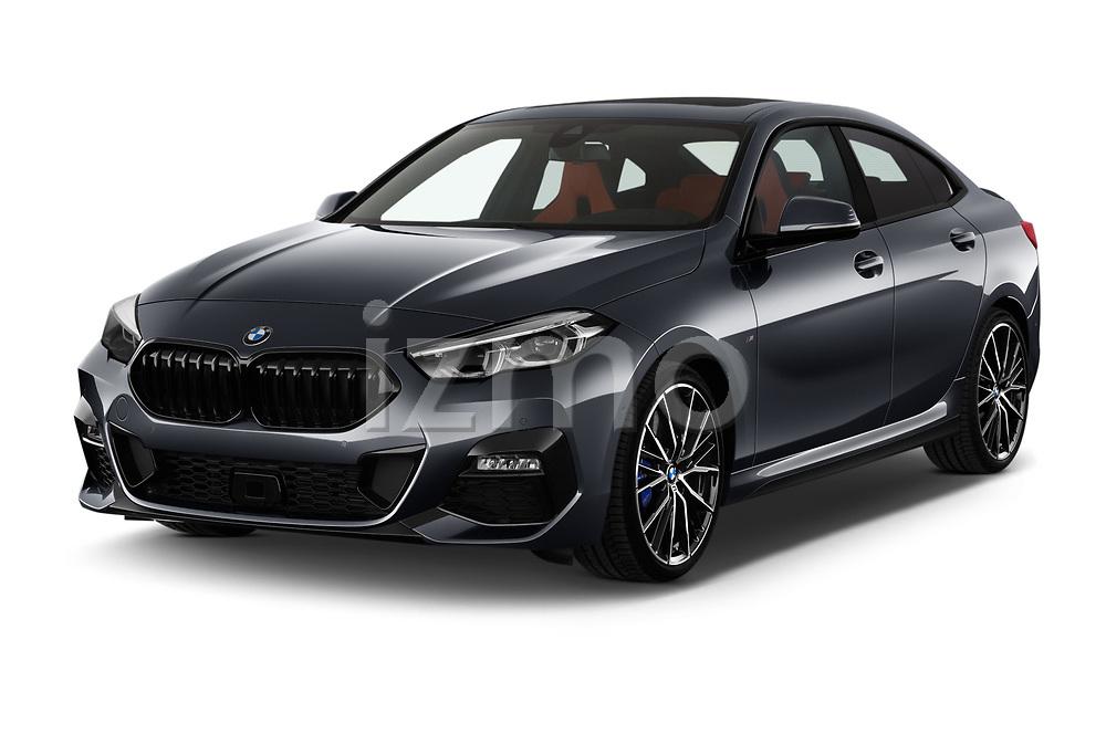 2020 BMW 2-Series-Gran-Coupe M-Sport 4 Door Sedan Angular Front automotive stock photos of front three quarter view