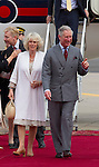 The Prince of Wales, and The Duchess of Cornwall begin a three day official visit to Morocco..Arrival at Rabat Airport