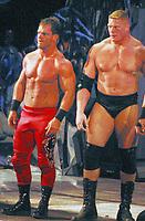 Chris Benoit and Brock Lesnar<br /> Madison Square Garden 2003.<br /> Photo By John Barrett/PHOTOlink/MediaPunch