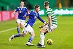 Celtic v St Johnstone…06.12.20   Celtic Park      SPFL<br />David Wotherspoon goes past Kristoffer Ajer<br />Picture by Graeme Hart.<br />Copyright Perthshire Picture Agency<br />Tel: 01738 623350  Mobile: 07990 594431