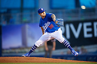 Tulsa Drillers relief pitcher Ralston Cash (30) delivers a pitch during a game against the Corpus Christi Hooks on June 3, 2017 at ONEOK Field in Tulsa, Oklahoma.  Corpus Christi defeated Tulsa 5-3.  (Mike Janes/Four Seam Images)