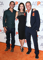 BEL AIR, CA, USA - OCTOBER 22: Tyler Posey, Susan Walters, Linden Ashby arrive at the 2014 ASPCA Compassion Award Dinner Gala held at a Private Residence on October 22, 2014 in Bel Air, California, United States. (Photo by Xavier Collin/Celebrity Monitor)