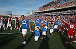Rangers team and mascots in Ottawa