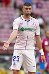 Getafe CF's Stefan Mitrovic during La Liga match. August 29, 2021. (ALTERPHOTOS/Acero)