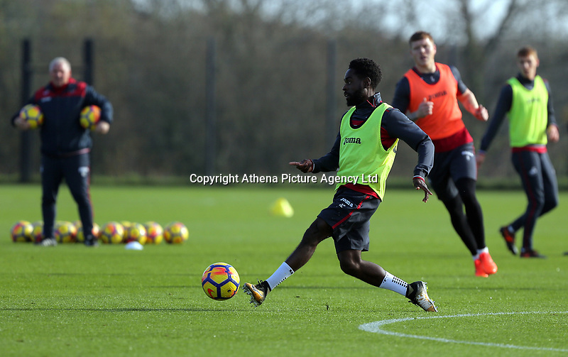 Nathan Dyer in action during the Swansea City Training at The Fairwood Training Ground, Swansea, Wales, UK. Wednesday 01 November 2017