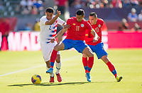 CARSON, CA - FEBRUARY 1: Ariel Lassiter #11 of Costa Rica battle for a ball during a game between Costa Rica and USMNT at Dignity Health Sports Park on February 1, 2020 in Carson, California.