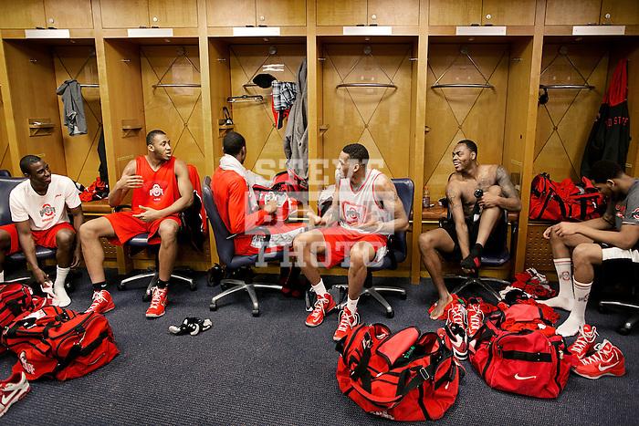 team in locker room