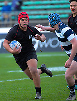 Action from the Manawatu premier schools rugby final between Palmerston North Boys' High School 2nd XV and Manukura College 1st XV at CET Stadium in Palmerston North, New Zealand on Saturday, 17 August 2019. Photo: Dave Lintott / lintottphoto.co.nz