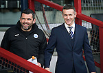 Ross County v St Johnstone…18.02.17     SPFL    Global Energy Stadium, Dingwall<br />Saints assistant manager Callum Davidson and Ross County manager Jim McIntyre<br />Picture by Graeme Hart.<br />Copyright Perthshire Picture Agency<br />Tel: 01738 623350  Mobile: 07990 594431