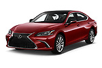 2020 Lexus ES 350 4 Door Sedan angular front stock photos of front three quarter view
