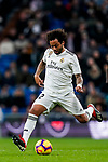 Marcelo Vieira Da Silva of Real Madrid in action during the La Liga 2018-19 match between Real Madrid and Rayo Vallencano at Estadio Santiago Bernabeu on December 15 2018 in Madrid, Spain. Photo by Diego Souto / Power Sport Images