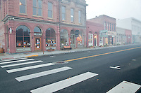 Early morning with vacant streets. Jacksonville, Oregon