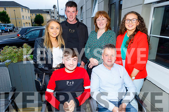 Gavin Joy from Killorglin celebrating his 18th birthday in the Ashe Hotel with his family on Friday.<br /> Seated l to r: Gavin and Paddy Joy<br /> Back l to r: Michelle Joy, Michael Fleming, Mary and Chloe Joy.