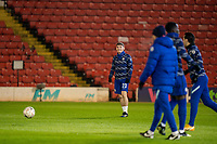 11th February 2021; Oakwell Stadium, Barnsley, Yorkshire, England; English FA Cup 5th round Football, Barnsley FC versus Chelsea; Billy Gilmour of Chelsea warms up as he starts for Chelsea
