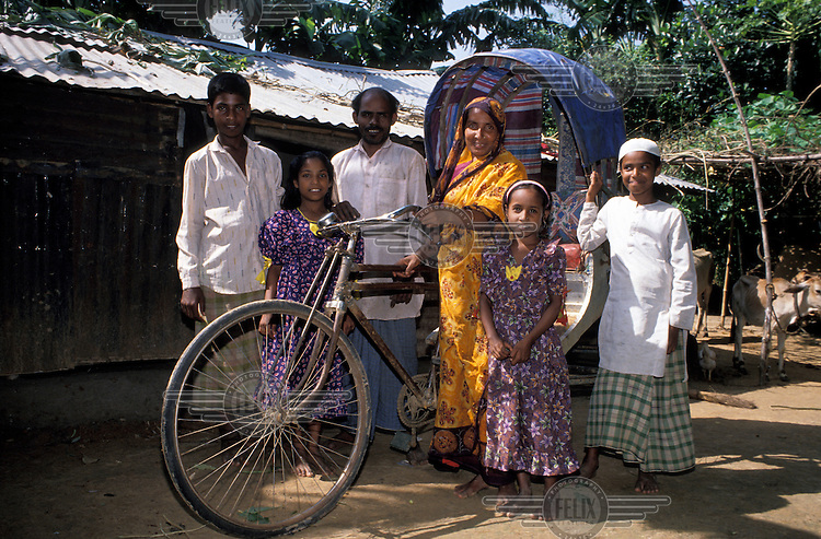 Recipient of Grameen Bank loan, who purchased a rickshaw to generate income.