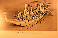 World Civilization:  Ancient Ships--Model of wooden Egyptian riverboat, circa 2000 B.C.  Casson, SHIPS AND SEAMANSHIP IN THE ANCIENT WORLD.  Metropolitan Museum.