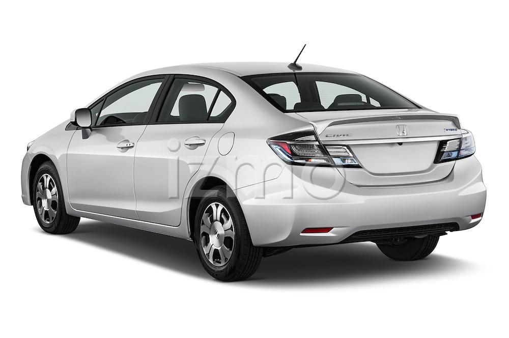Car pictures of rear three quarter view of a 2014 Honda Civic Hybrid Hybrid CVT 4 Door Sedan Angular Rear