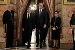 King Felipe VI of Spain (r), receives in the Royal Palace the President of the French Republic Emmanuel Macron. July 26,2018. (ALTERPHOTOS/Acero)