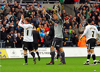 ATTENTION SPORTS PICTURE DESK<br /> Pictured: Dorus de Vries goalkeeper for Swansea<br /> Re: Coca Cola Championship, Swansea City Football Club v Cardiff City FC at the Liberty Stadium, Swansea, south Wales. Saturday 07 November 2009