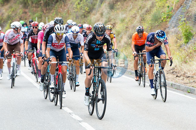 The large breakaway with Michael Storer (AUS) Team DSM during Stage 18 of La Vuelta d'Espana 2021, running 162.6km from Salas to Alto del Gamoniteiru, Spain. 2nd September 2021.   <br /> Picture: Cxcling | Cyclefile<br /> <br /> All photos usage must carry mandatory copyright credit (© Cyclefile | Cxcling)