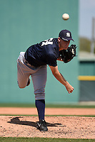 Pitcher Philip Walby (64) of the New York Yankees organization during a minor league spring training game against the Pittsburgh Pirates on March 22, 2014 at Pirate City in Bradenton, Florida.  (Mike Janes/Four Seam Images)