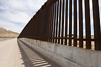 Sunland Park, NM - NEWS:   Ride along with Customs and Border Protection agents, Sunland Park, NM, Monday, April 29, 2019.<br /> <br /> <br /> PICTURED:  The border fence separating Mexico and the United States - Sunland Park, New Mexico.<br /> <br /> (Angel Chevrestt, 646.314.3206)