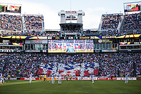 Seattle, WA - Thursday, June 16, 2016: USA supporters during a Quarterfinal match of the 2016 Copa America Centenrio at CenturyLink Field.