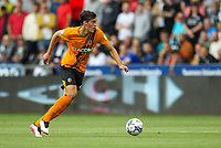 11th September 2021; Swansea.com Stadium, Swansea, Wales; EFL Championship football, Swansea versus Hull City; Jacob Greaves of Hull City brings the ball forward