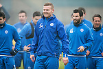 St Johnstone Training….16.12.16<br />Brian Easton pictured during training this morning at a wet and foggy McDiarmid Park<br />Picture by Graeme Hart.<br />Copyright Perthshire Picture Agency<br />Tel: 01738 623350  Mobile: 07990 594431