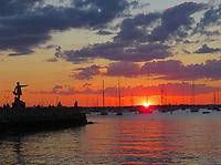 Sunset Newport Harbor