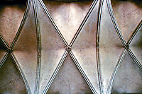 Detail of vaulted ceiling in Salisbury Cathedral. Salisbury, England.
