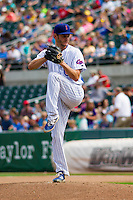 Iowa Cubs pitcher Drew Rucinski (17) on the mound during a game against the Colorado Springs Sky Sox on September 4, 2016 at Principal Park in Des Moines, Iowa. Iowa defeated Colorado Springs 5-1. (Brad Krause/Four Seam Images)