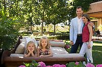 POOL 2012. Madrid. Spain. Princess Letizia Ortiz 40th Birthday anniversary.  Princes of Asturias Felipe de Borbon and Letizia Ortiz and their daughters Princesses Leonor and Sofia. (C) Cristina Garcia Rodero/Spanish Royal House/ Casa de su Majestad el Rey. POOL