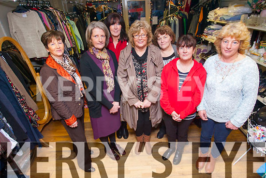 Kingdom Care are appealing for donations to help support their Castleisland shop. <br /> Front L-R Teresa Foran, Elizabeth Roche (manager), Noreen Cremins and Noreen O'Sullivan. <br /> Back L-R Mary McKenna, Mary Pat Sheehy and Tina Moriarty.