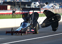 Sep 1, 2019; Clermont, IN, USA; NHRA top fuel driver Pat Dakin during qualifying for the US Nationals at Lucas Oil Raceway. Mandatory Credit: Mark J. Rebilas-USA TODAY Sports