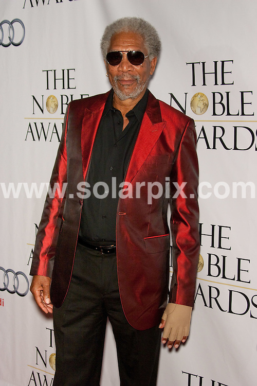 **ALL ROUND PICTURES FROM SOLARPIX.COM**.**SYNDICATION RIGHTS FOR UK, AUSTRALIA, DENMARK, PORTUGAL, S. AFRICA, SPAIN & DUBAI (U.A.E) ONLY**.Arrivals for the 1st Annual The Noble Awards. Held at the Beverly Hills Hilton, Beverly Hills, CA, USA. 18 October 2009..This pic: Morgan Freeman..JOB REF: 10150 PHZ Hatcher   DATE: 18_10_2009.**MUST CREDIT SOLARPIX.COM OR DOUBLE FEE WILL BE CHARGED**.**MUST NOTIFY SOLARPIX OF ONLINE USAGE**.**CALL US ON: +34 952 811 768 or LOW RATE FROM UK 0844 617 7637**