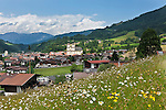 Austria, Tyrol, Hopfgarten at Brixen Valley: with parish church also called Cathedral of Brixen Valley | Oesterreich, Tirol, Marktgemeinde Hopfgarten im Brixental: mit der Hopfgartner Pfarrkirche dem Dom des Brixentals