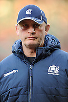 Vern Cotter, Scotland Head Coach, concentrates hard