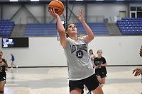 Greenwood's Mady Cartwright (13) shoots, Thursday, June 10, 2021 during a basketball game at Rogers High School in Rogers. Check out nwaonline.com/210611Daily/ for today's photo gallery. <br /> (NWA Democrat-Gazette/Charlie Kaijo)